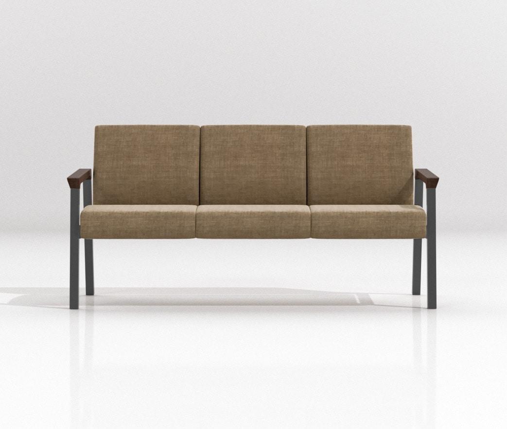 String Bench 3P, Modulare Sitzmöbel für Ruhebereiche