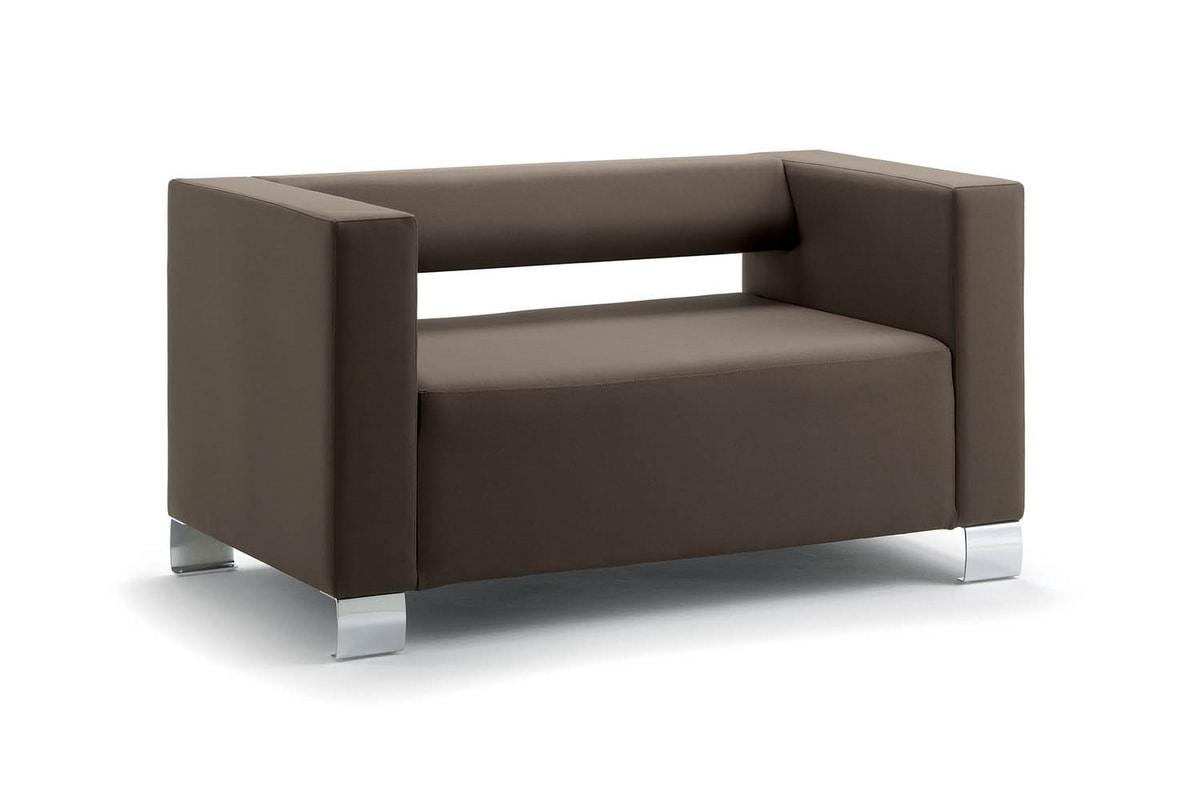 Squared sofa mit chromf en wesentlich idfdesign Sofa quadratisch