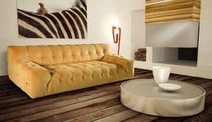 Alison, 2-Sitzer-Sofa mit gefalteten Rückenlehne und Sitz