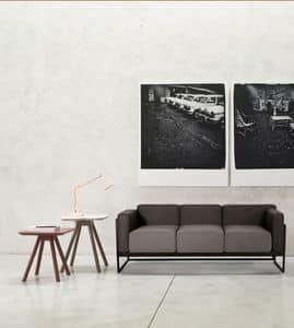 ART. 0062 0063 0064 KIRK, Elegante Sammlung von zweisitzigen und dreisitzige Sofas