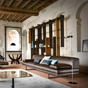 Blumun, 3-Sitzer-Sofa aus Leder