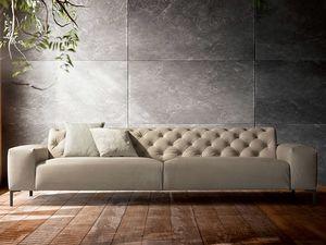 Boston capitonné, Bequemes Sofa, mit einem raffinierten Design