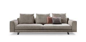 Burton, Design-Sofa mit Daunenkissen