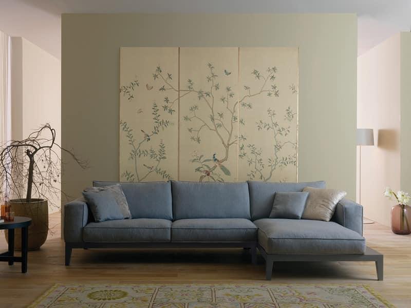 Sofa Mit Holzgestell Gepolstert In Leder Oder Stoff Idfdesign