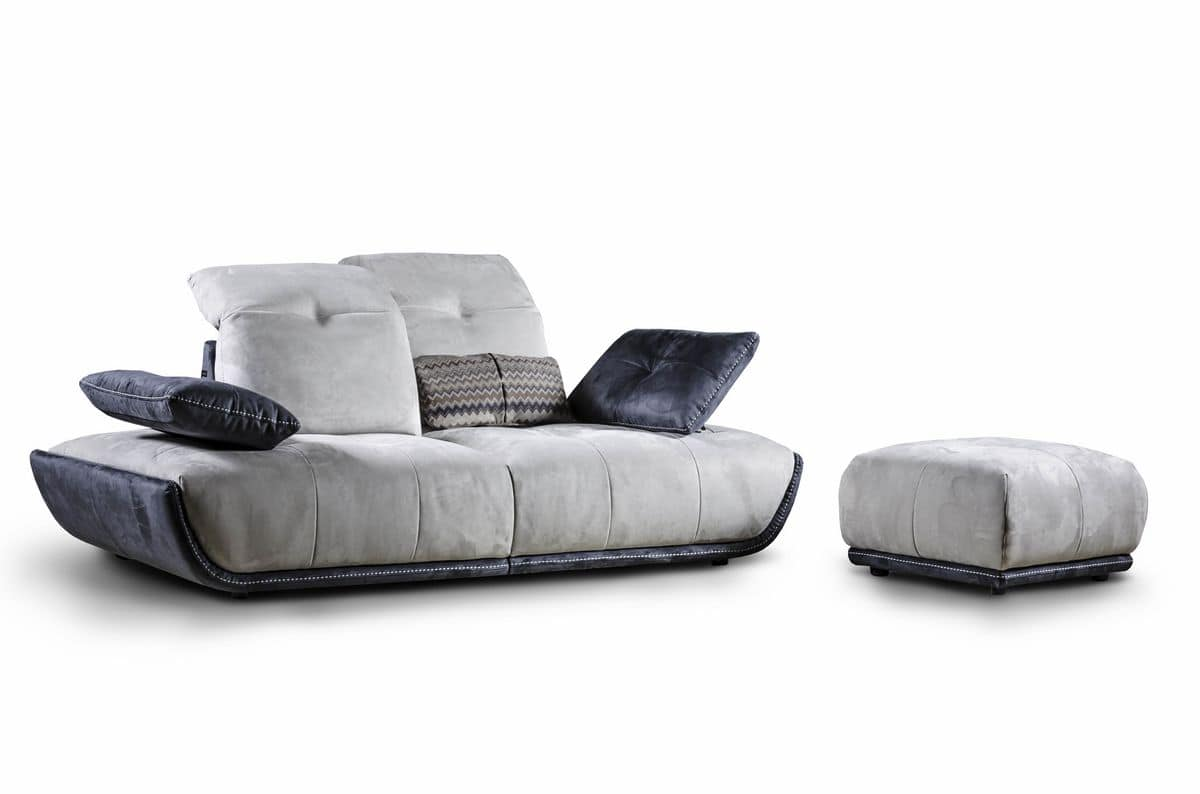 sofa mit chaiselongue neigungsverstellbare r ckenlehne idfdesign. Black Bedroom Furniture Sets. Home Design Ideas