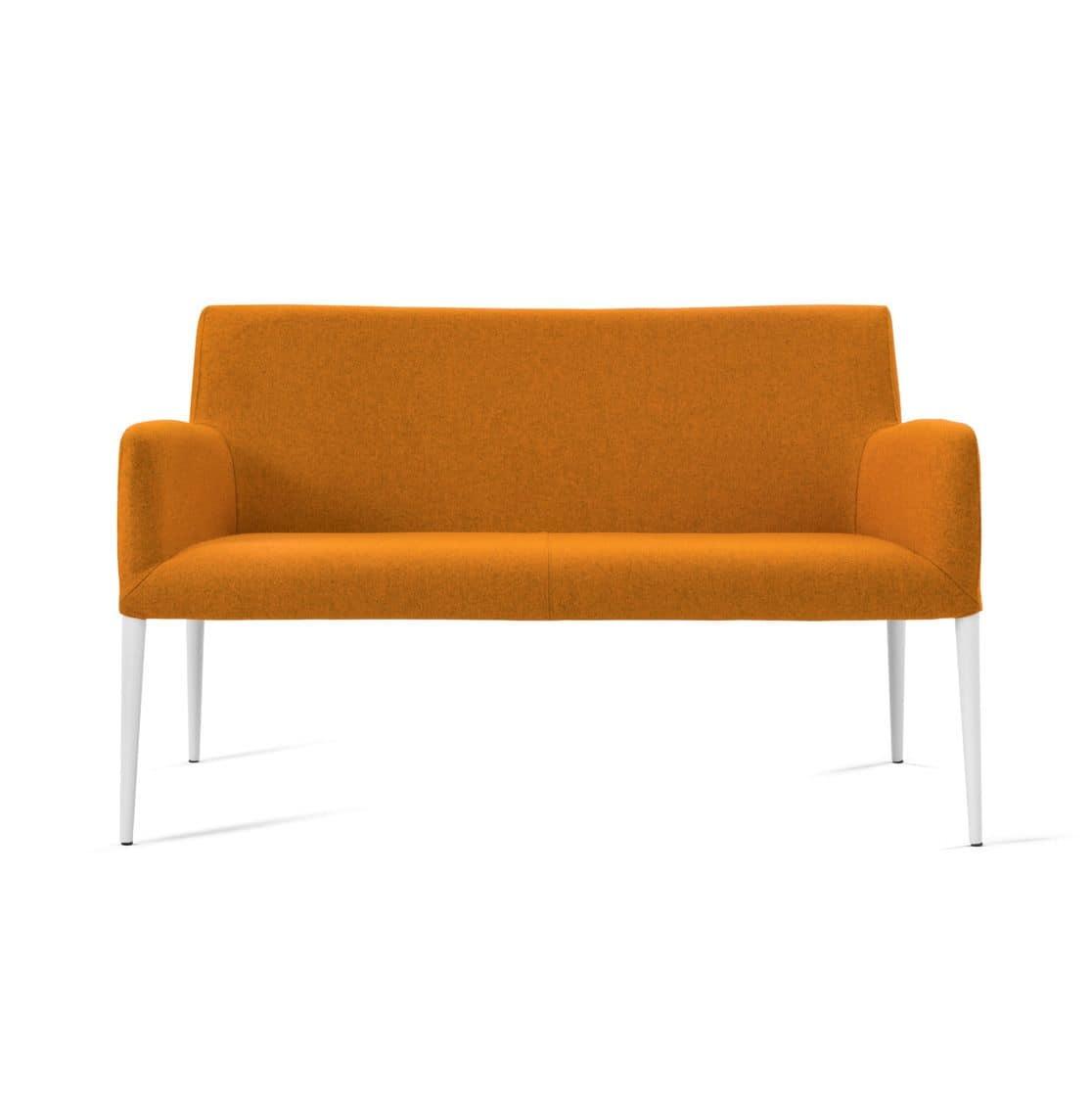 2 sitzer sofa lederbezug beine aus metall idfdesign. Black Bedroom Furniture Sets. Home Design Ideas