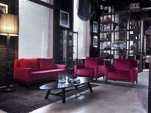 Contour divano 2p c/bra dxl2, 2-Sitzer-Sofa, moderner Stil, für Wohnzimmer und Empfang