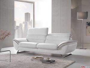 Cruise, Elegantes und bequemes modernes Sofa mit Stahlfüßen