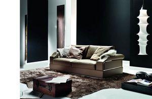 Dandy, Sofa mit dekorativen Metalleinsätzen