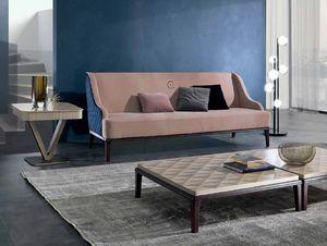 DI45 Square, Sofa mit externer Polsterung mit Rautenmuster