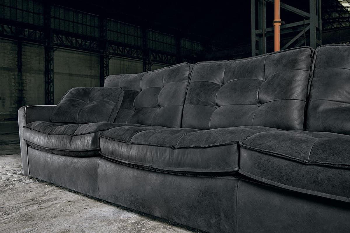 4 sitzer sofa gesteppt idfdesign for Sofa 4 sitzer