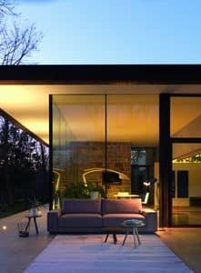 DREAM Sofa, Design Sofa, elegant und linear, in Leder und Stoff