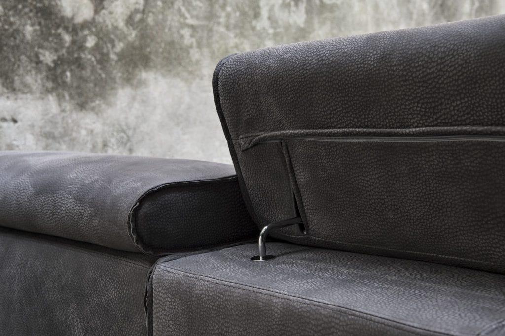 sofa mit abnehmbarem bezug mit verstellbarer r ckenlehne idfdesign. Black Bedroom Furniture Sets. Home Design Ideas