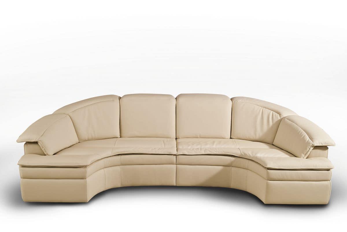modulares sofa aus leder bicolor idfdesign. Black Bedroom Furniture Sets. Home Design Ideas