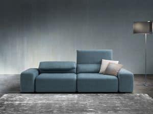 Gogò, Sofa mit komplett abnehmbaren Polster, mit einem modernen Design