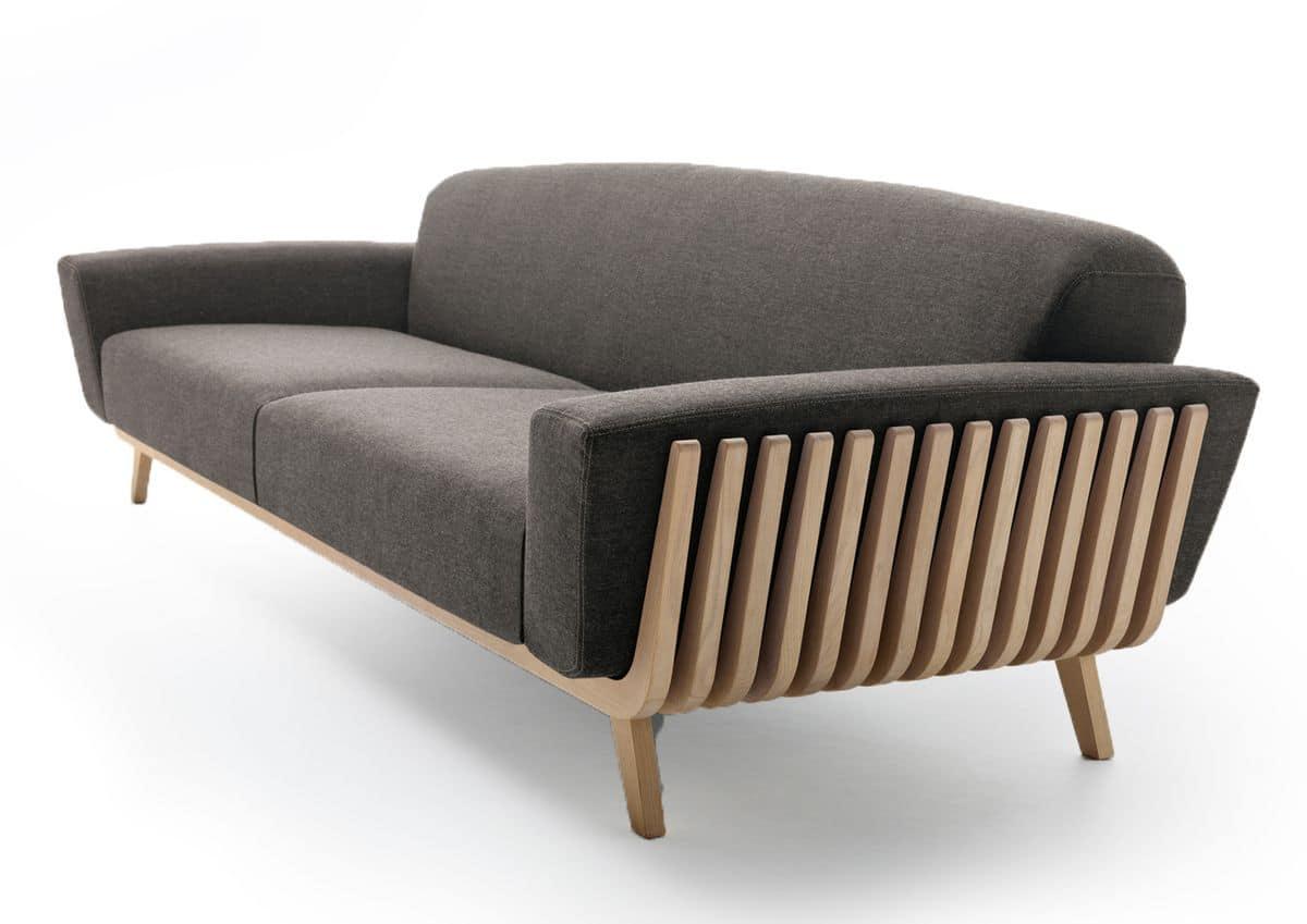 sofa mit holzrahmen f r wartezimmer idfdesign. Black Bedroom Furniture Sets. Home Design Ideas