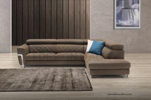 Hilton, Modulares Sofa mit eckigen Linien