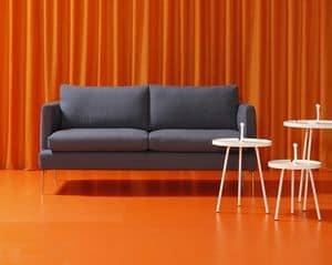 Jasmine, 2 -Sitzer Sofa, ein Holzrahmen, abnehmbare Abdeckung aus Stoff oder Leder, moderne Wohnräume