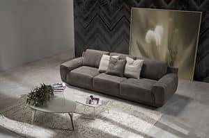 King, Sofa mit inneren Struktur in Tanne Sperrholz