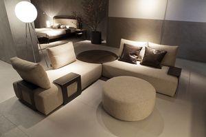 Kronos Sofa, Sofa mit verstellbaren Rückenlehnen und Tischelementen