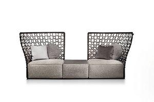 Lady C, Sofa mit hohem dekorativem Rücken