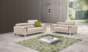 Levante, Sofa mit verchromtem Kufengestell