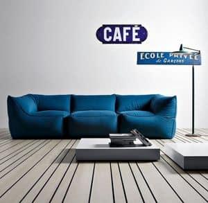 Limbo Sofa, Gestalten Sie Modulsofa in Polystyrol, ohne starre Struktur