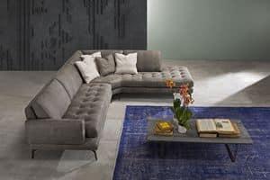 Living, Overstuffed Sofa aus Polyurethan, mit gesteppten Sitz