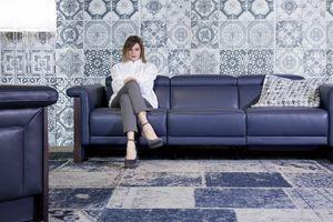 Madame, 3-Sitzer-Sofa aus Leder mit Entspannungsmechanismus