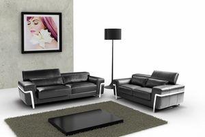 Maratea, 2-Sitzer-Sofa mit Metallfüßen