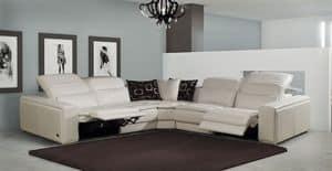 Matisse, Sofa mit Chaiselongue, neigungsverstellbare Rückenlehne