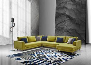 Mito, Modernes Sofa mit komplett abnehmbarem Bezug