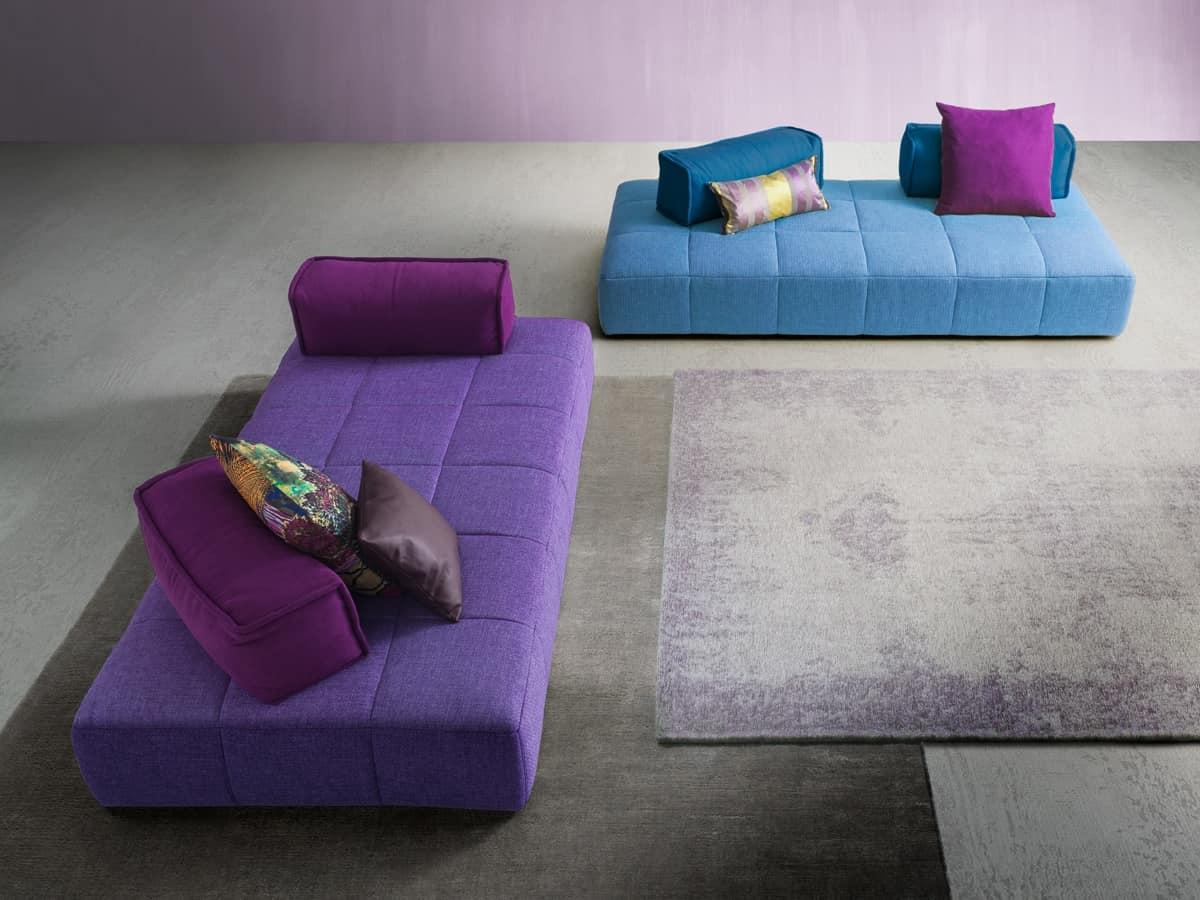 Moss, Sofa mit einem jungen Design, mit abnehmbarem Stoff