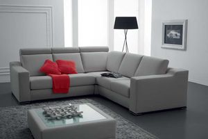 SOFFIO, Sofa mit zurückliegender Rückenlehne