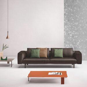 Todd, Modernes Sofa in Leder oder Stoff