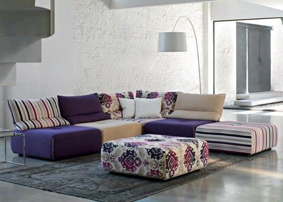 Modulares sofa mit abnehmbarem und anpassbare beschichtung for Sofas modulares