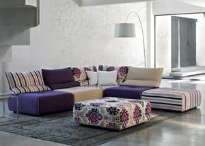 Toys, Modulares Sofa mit abnehmbarem und anpassbare Beschichtung
