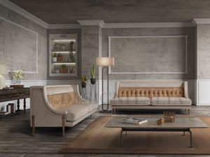 Vanity, Sofa mit Holzbeinen