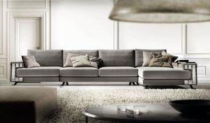 Visconti, Sofa gekennzeichnet durch eine Spiegeldekoration auf den Armlehnen