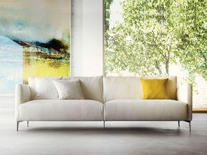 Volo, Gepolstertes Sofa mit dünnen Beinen, modernen Stil