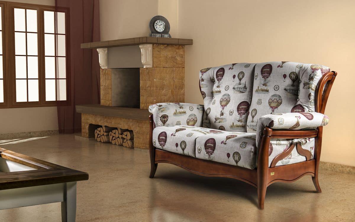 Sofa mit Holzstruktur, rustikalen Stil   IDFdesign