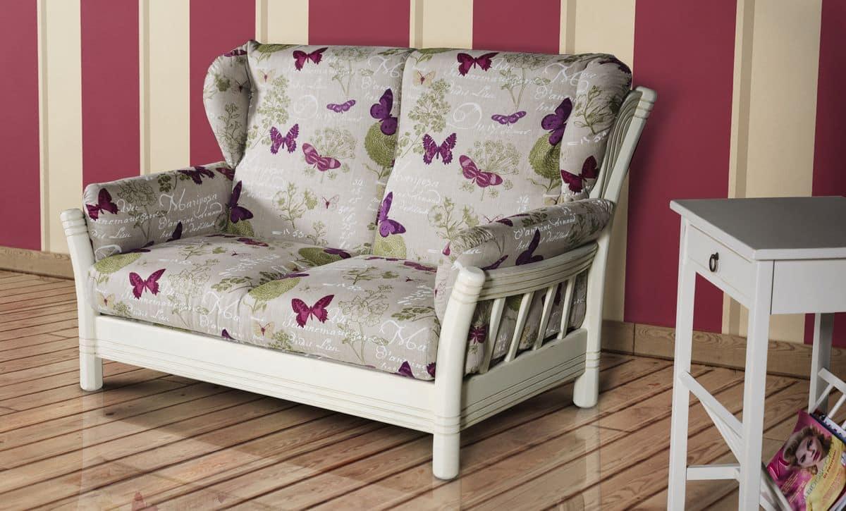 zweisitzer sofa in stoff gepolstert idfdesign. Black Bedroom Furniture Sets. Home Design Ideas