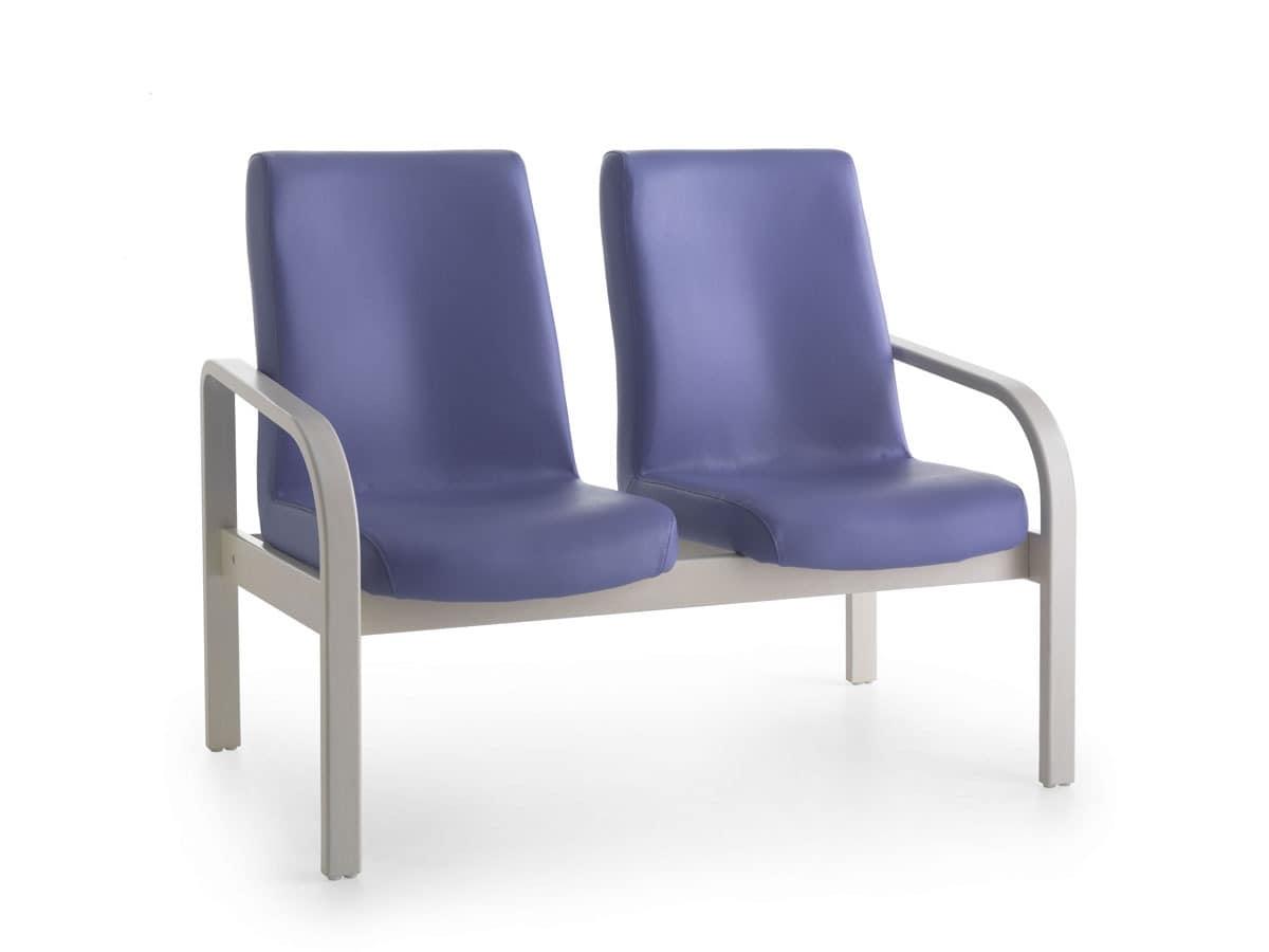 Marta 09 2P, Polsterbank, 2-Sitzer, ergonomisch, für Pflegeheim