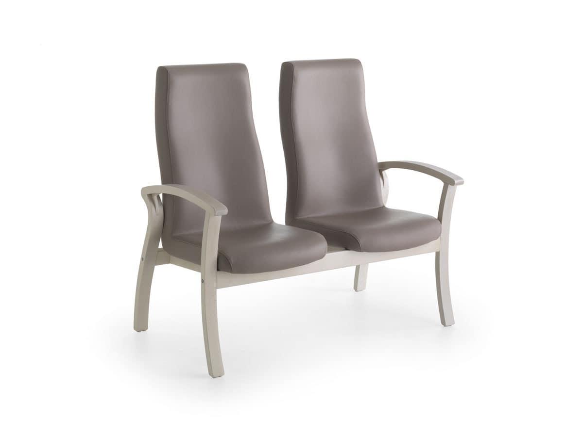 Silver Age 09 HB 2P, Sofa mit hoher Rückenlehne, komfortabel, für Arztpraxis