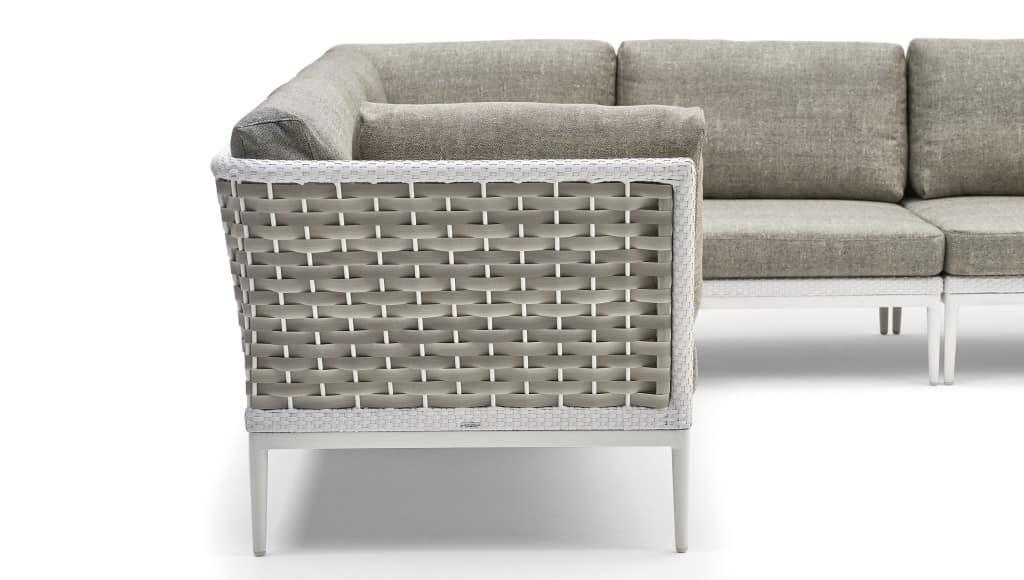 Algarve modulares Sofa, Modulares Sofa, Aluminium-Basis, handgewebt
