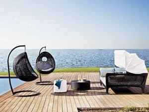 Altea Schlafsofa, Sofa-Bett, mit Sonnenschirm, zum Strand und Terrasse