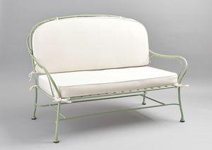 BAMBOO GF4012SO, 2-Sitzer-Sofa aus verzinktem Eisen für den Außenbereich