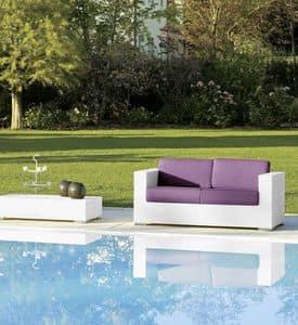 Cora Sofa 2p, 2 -Sitzer-Sofa für Gärten und Strandbars