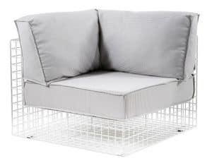 Grid Ecke, Winkelstahl Sessel, ideal für den Außeneinsatz