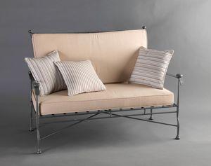 INTRECCIO GF4004SO-2P, 2-Sitzer-Sofa aus Schmiedeeisen für den Außenbereich